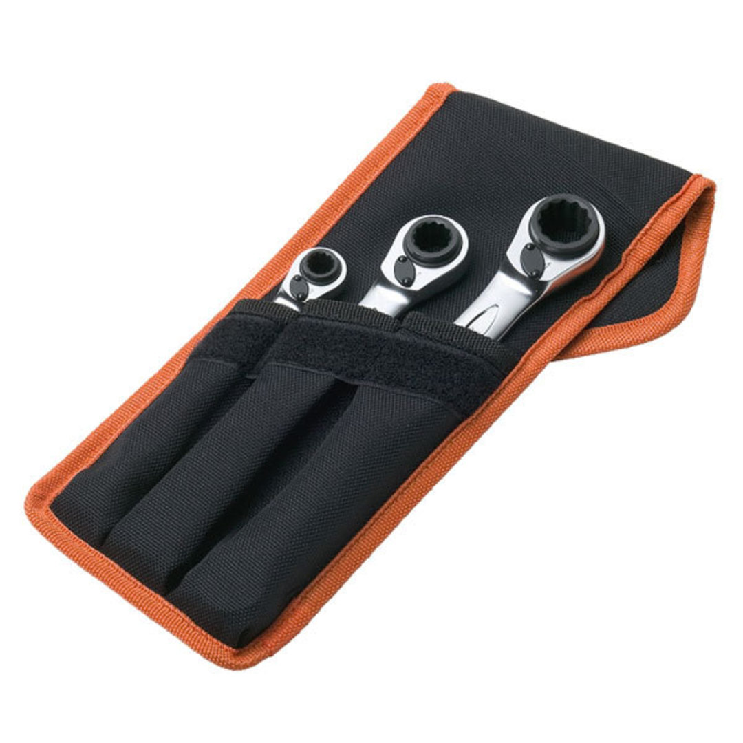 Bahco 3pc Reversible Ratchet Wrench Set image 0