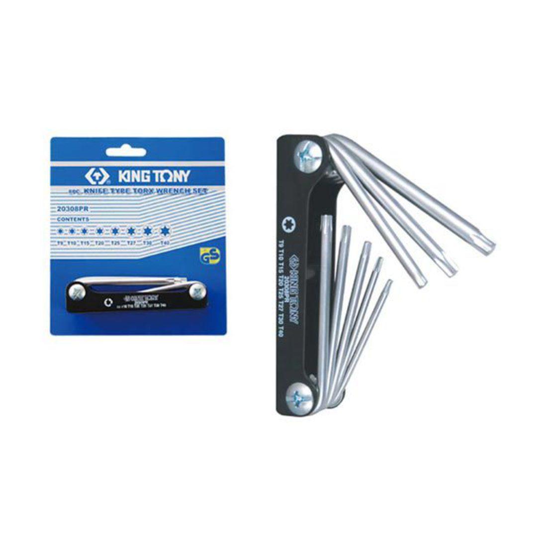 King Tony 8pc Torx Wrench Set Fold Up image 0