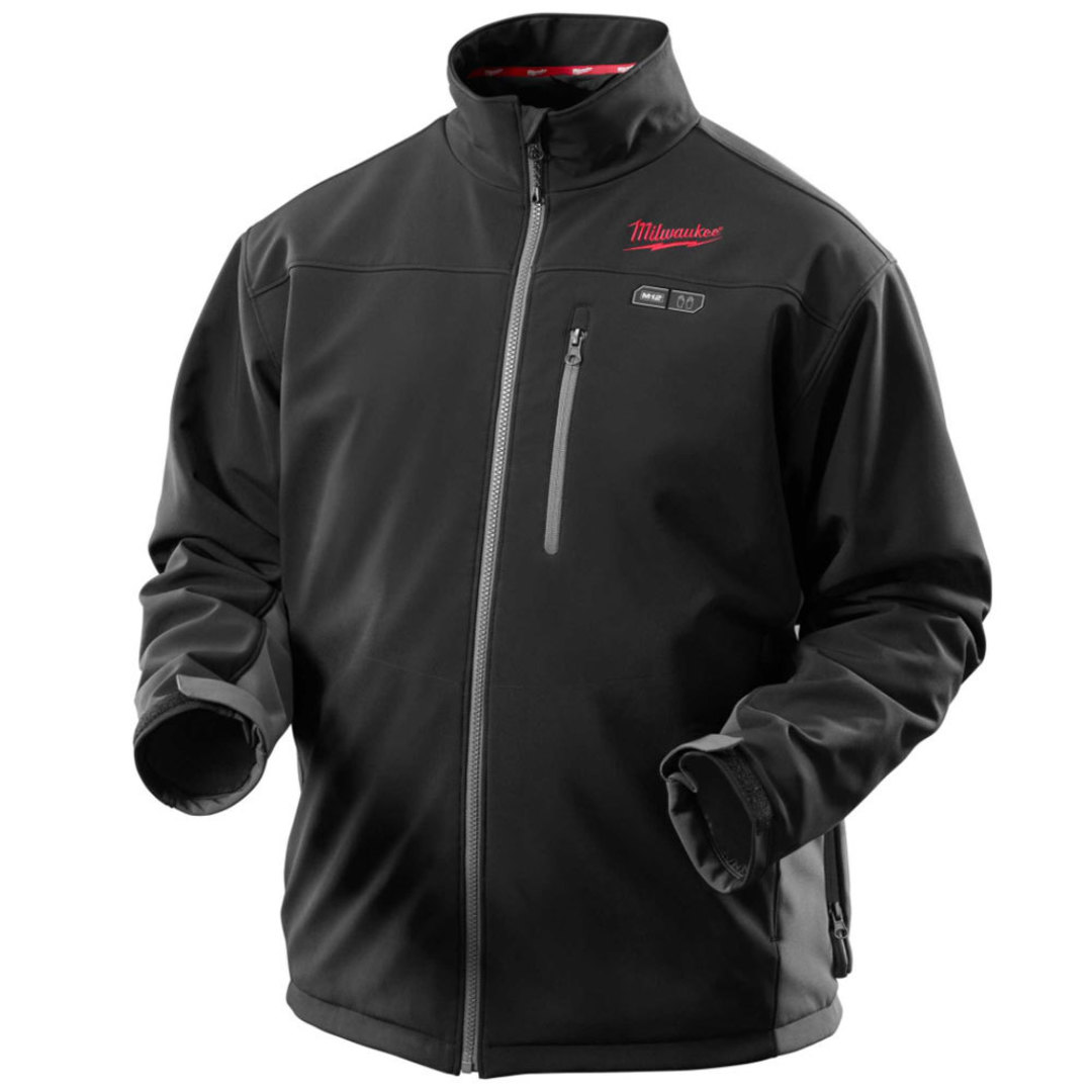 Milwaukee M12 Heated Jacket Blk Tuffshell Med image 0