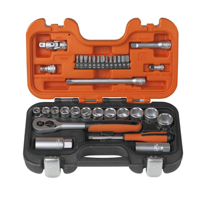 "Bahco 33pc Metric Socket Set 3/8"" Dr image 0"
