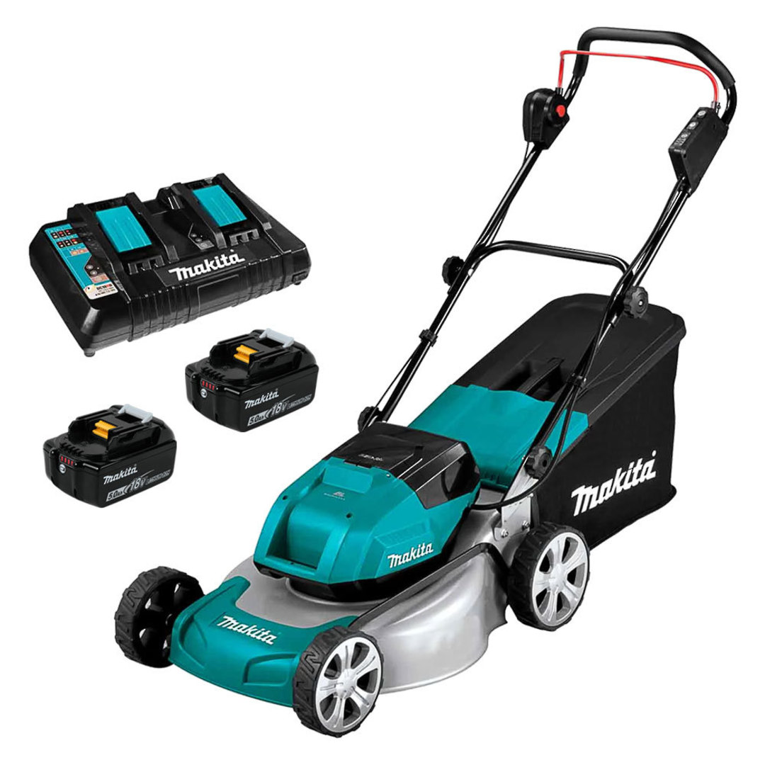 Makita 18Vx2 (36V) Brushless 460mm Metal Deck Mower Kit image 0