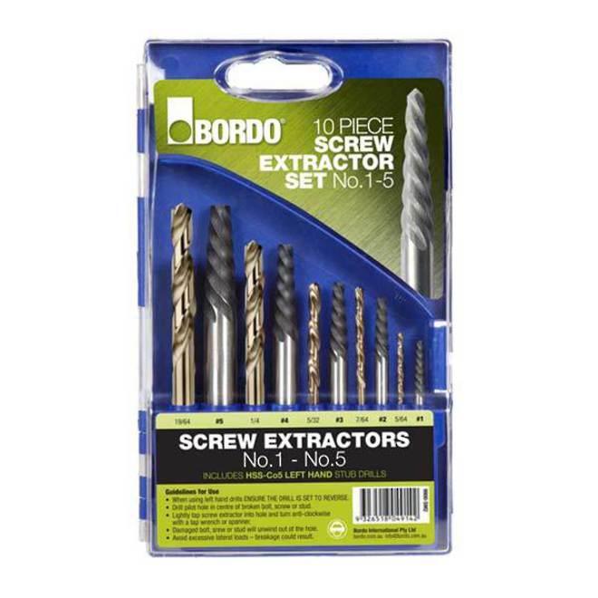 Bordo 10pc Screw Extractor Set image 0
