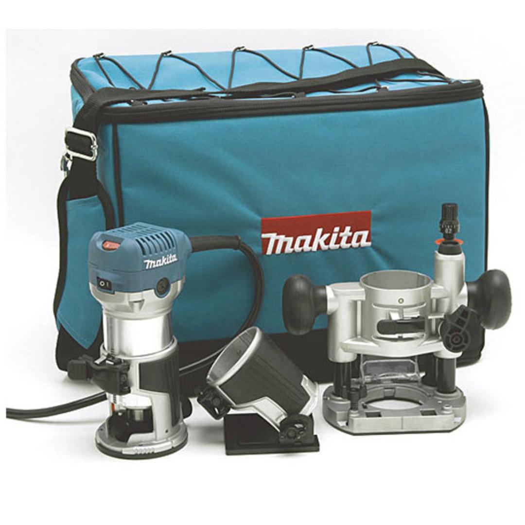 "Makita Trimmer Kit 1/4"" 710w - RT0700CX2 image 0"