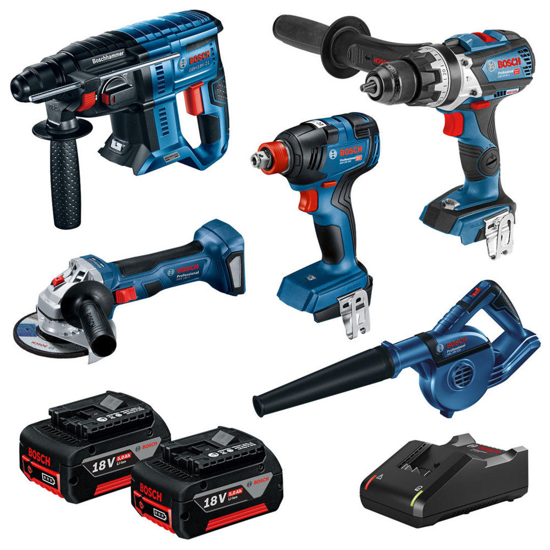 BOSCH 5Pc 18V 5.0Ah Limited Release Combo Kit image 0