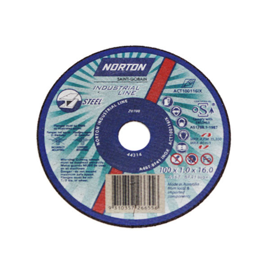 Norton 100x1x22 Cut-off Disc image 0