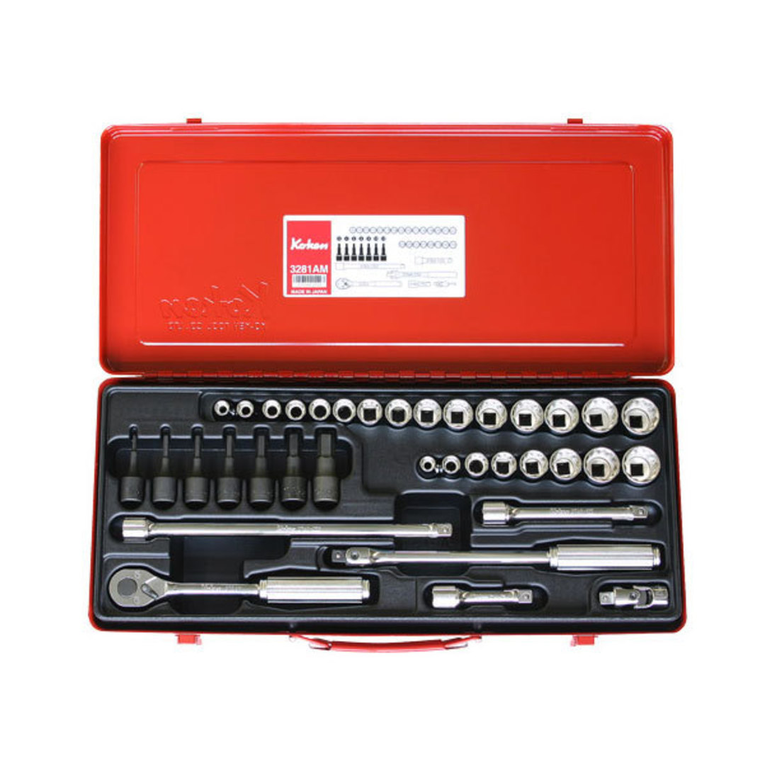 "Koken 3/8"" Dr Socket Set - 36pc image 0"