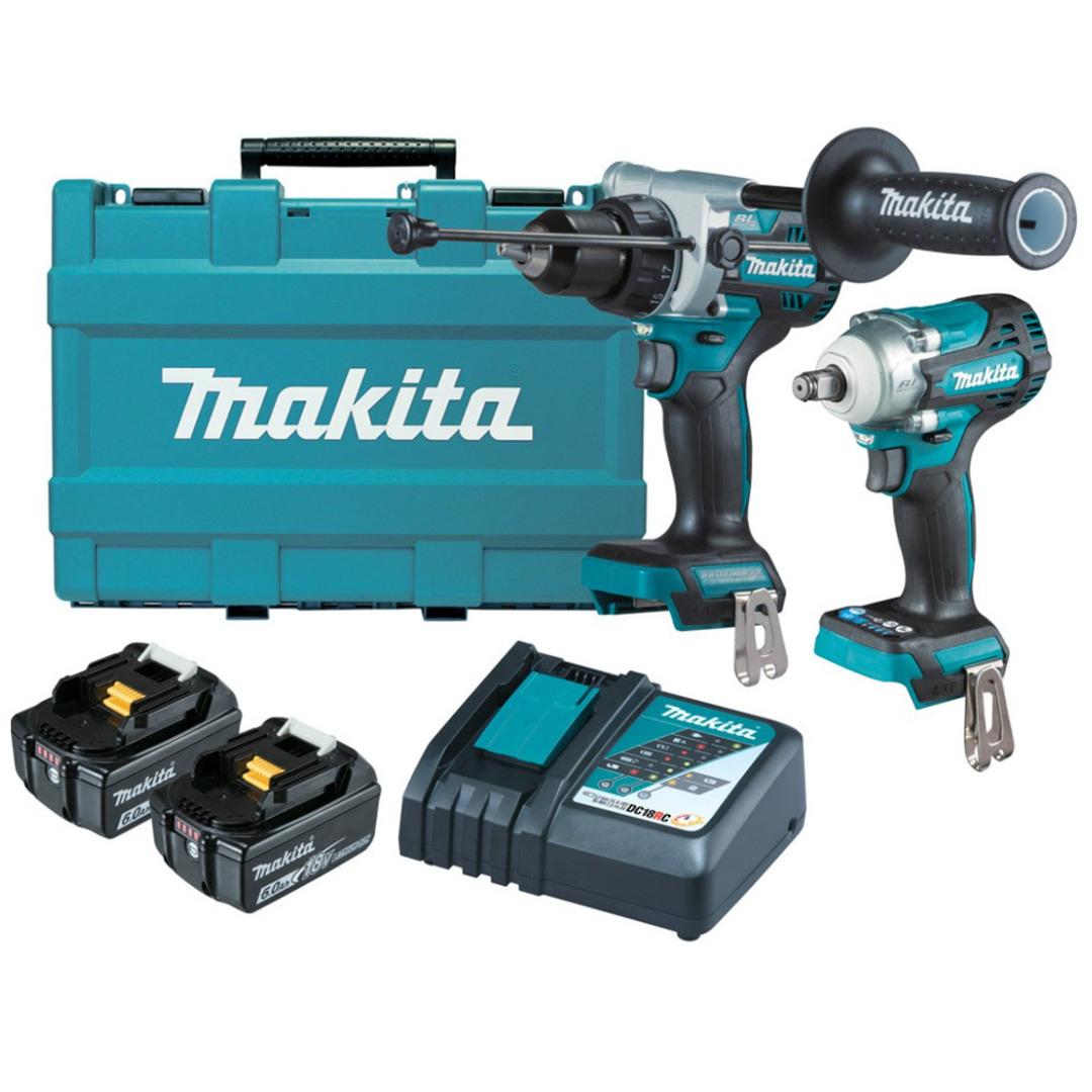 Makita DLX2419G Drill & Impact Wrench 6Ah Kit image 0