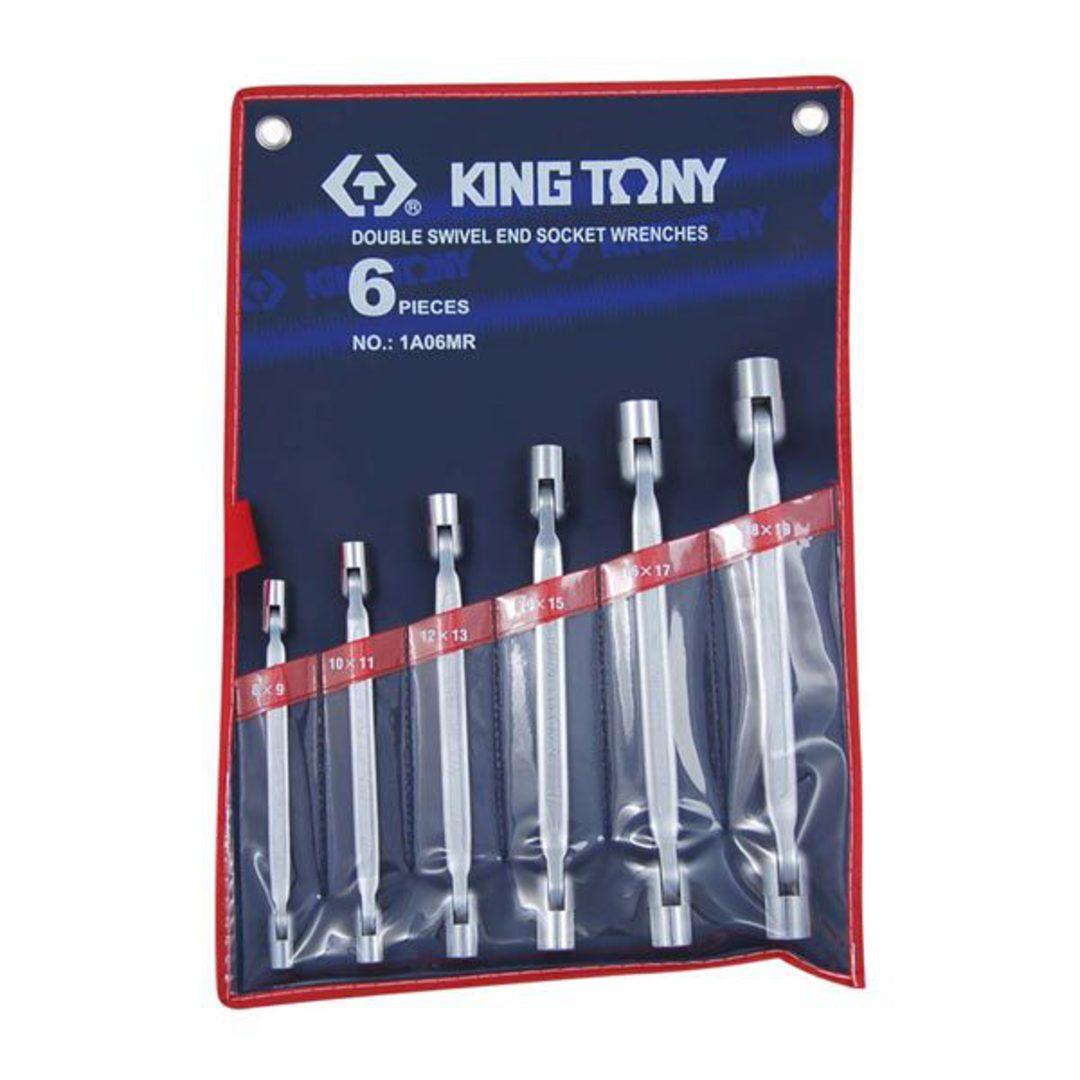 King Tony 6pc Swivel End Socket Wrench Set image 0