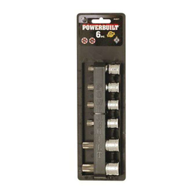 "Powerbuilt 3/8"" Dr and 1/2"" Dr 6pc Torx Socket Set image 0"