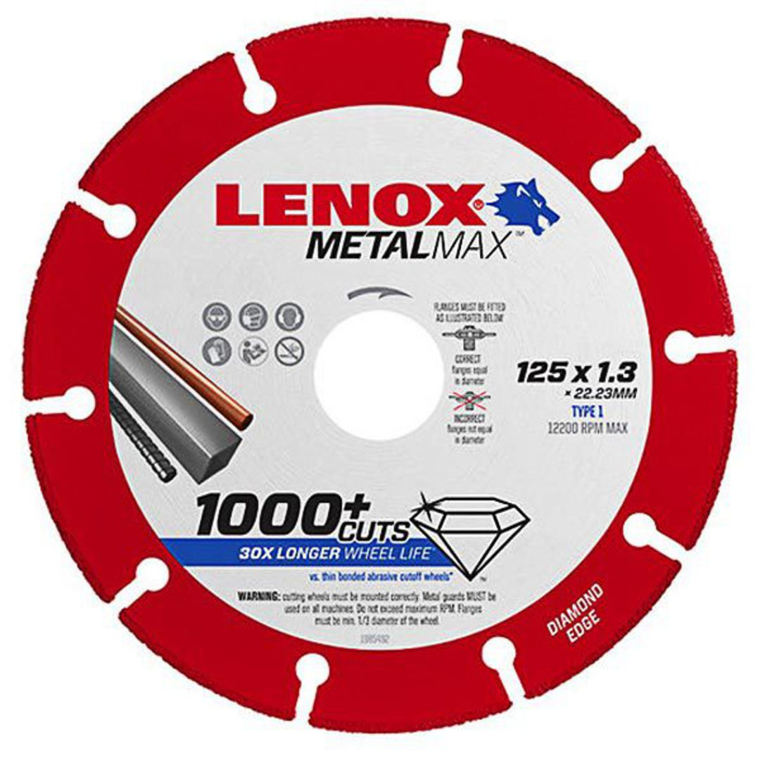 Lenox MetalMax Diamond Edge Cut Off Discs image 0