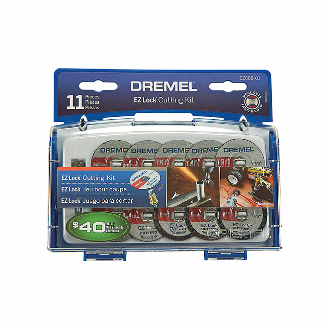 Dremel EZ688-02 EZ Lock Cutting Kit 11pc image 0