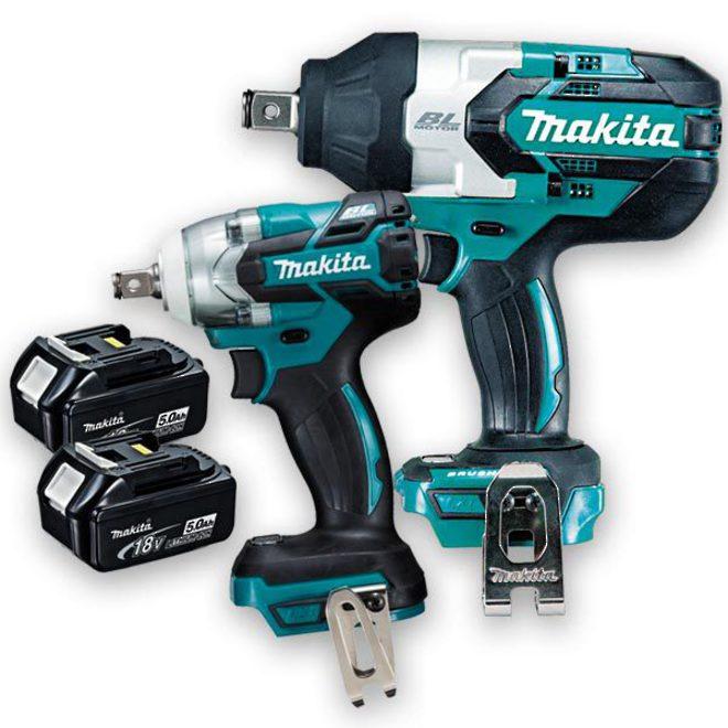 Makita 18v Brushless 2pc Impact Wrench Kit image 0