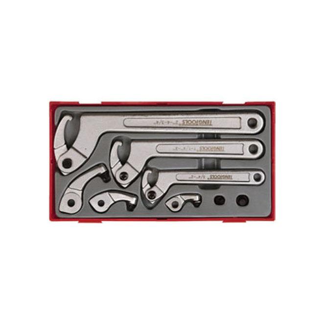 Teng Tools 8pc Hook & Pin Wrench Set image 0