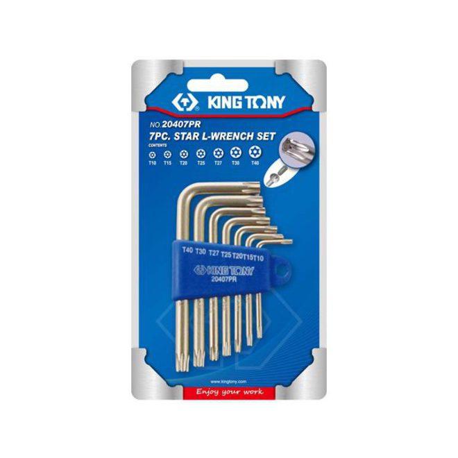 King Tony 7pc Torx Wrench Set Tamper Resistant image 0