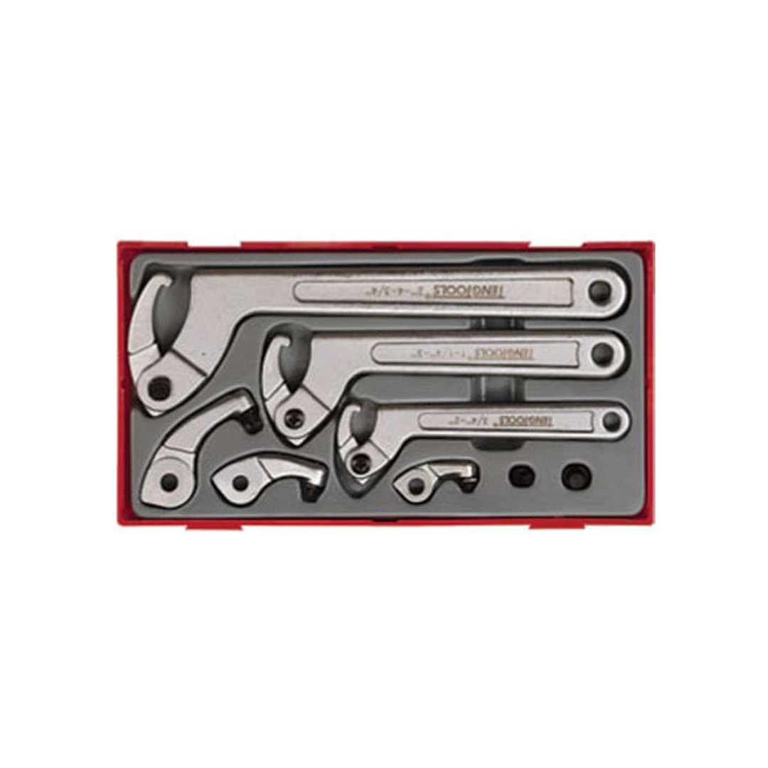 Teng Tools 8pc Hook & Pin Wrench Set image 0