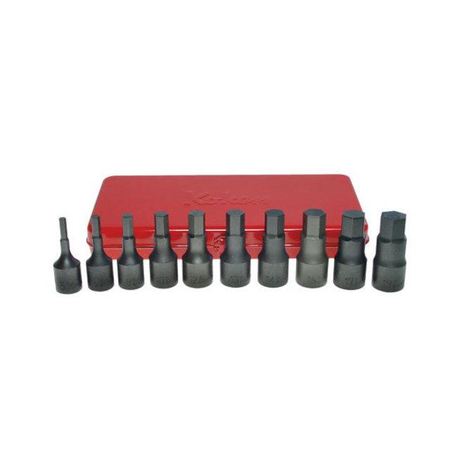 """Koken 1/2"""" Dr Inhex Socket Set In Case - 10pc image 0"""