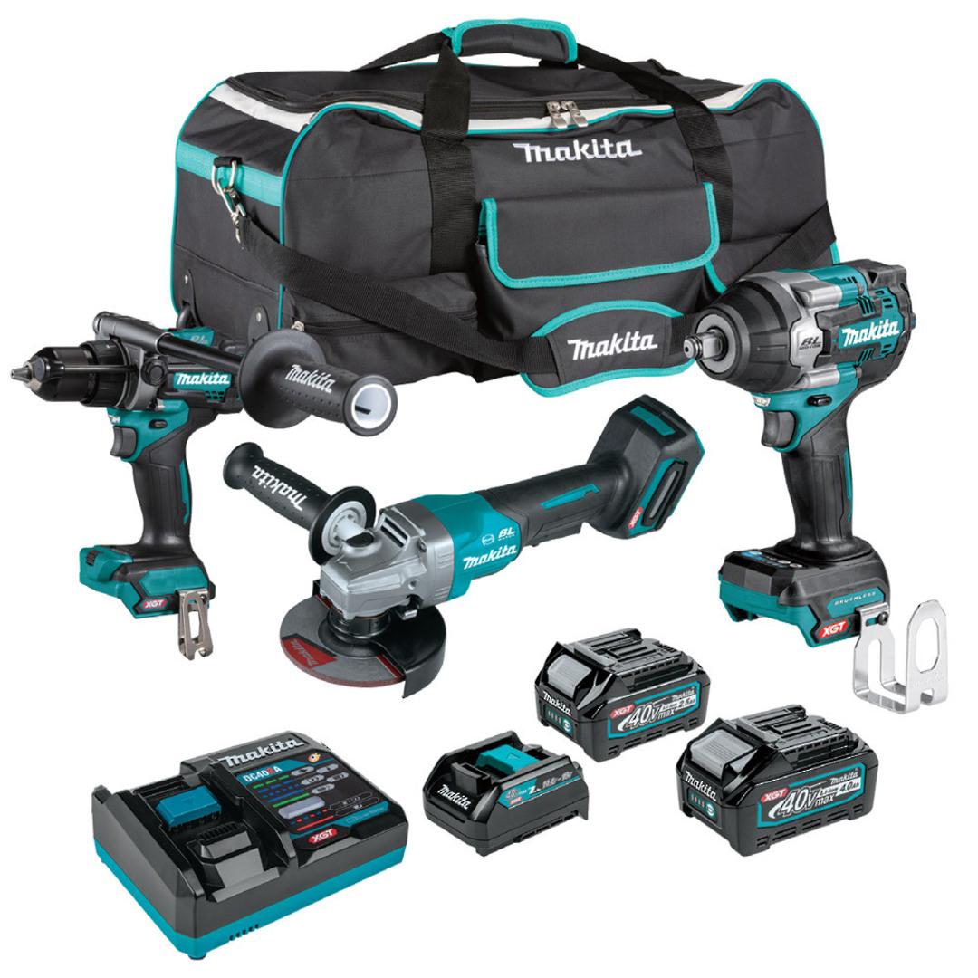 Makita 3pc 40V Max XGT Drill, Wrench & Grinder Kit image 0