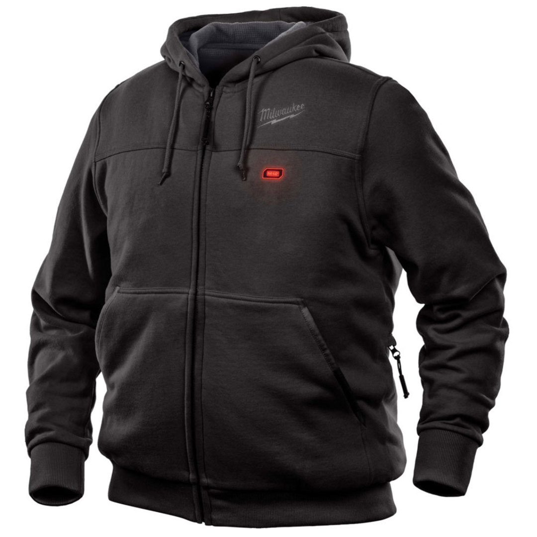 Milwaukee M12 Black Heated Hoodie Gen9 Large image 0