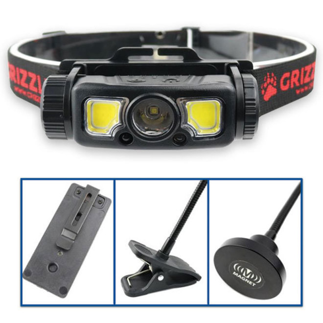 Grizzly Rechargable 4-In-1 LED Headlight and Woklight image 0