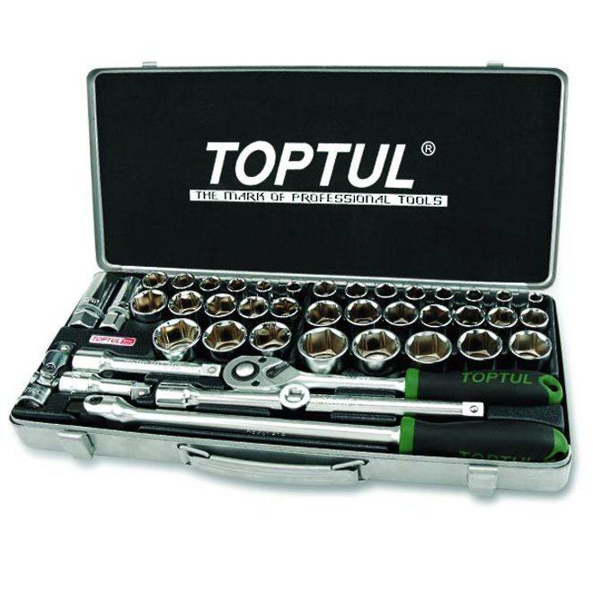 "TopTul Socket Set 1/2""Dr 43pc Metric / Imperial image 0"