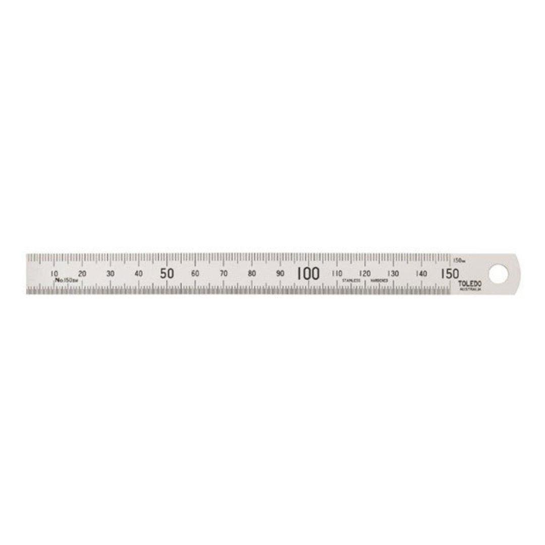 Toledo 150mm Metric Ruler image 0