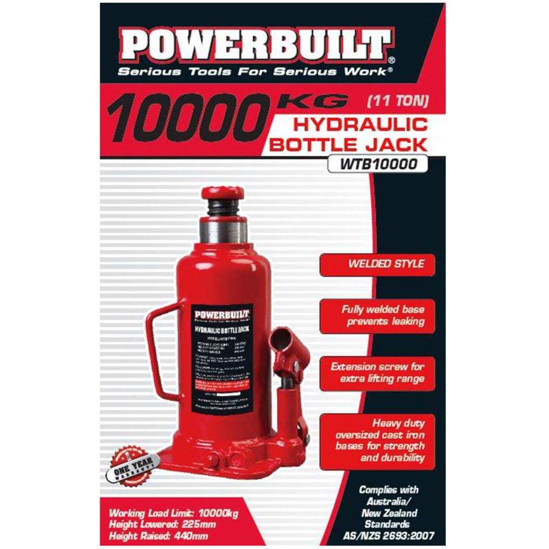 Powerbuilt 11Ton / 10000Kg Bottle Jack image 0