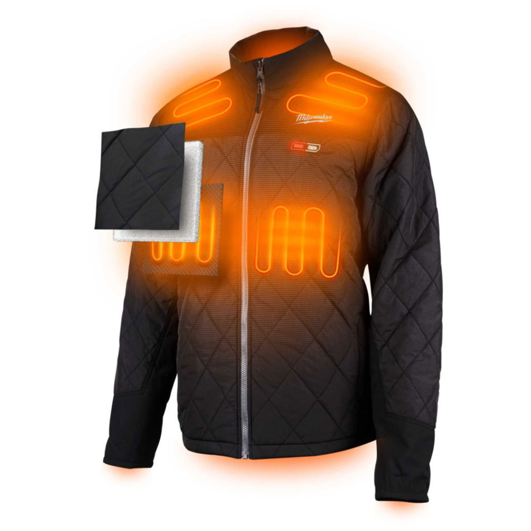 Milwaukee M12 Heated Jacket skin Black size XL image 0