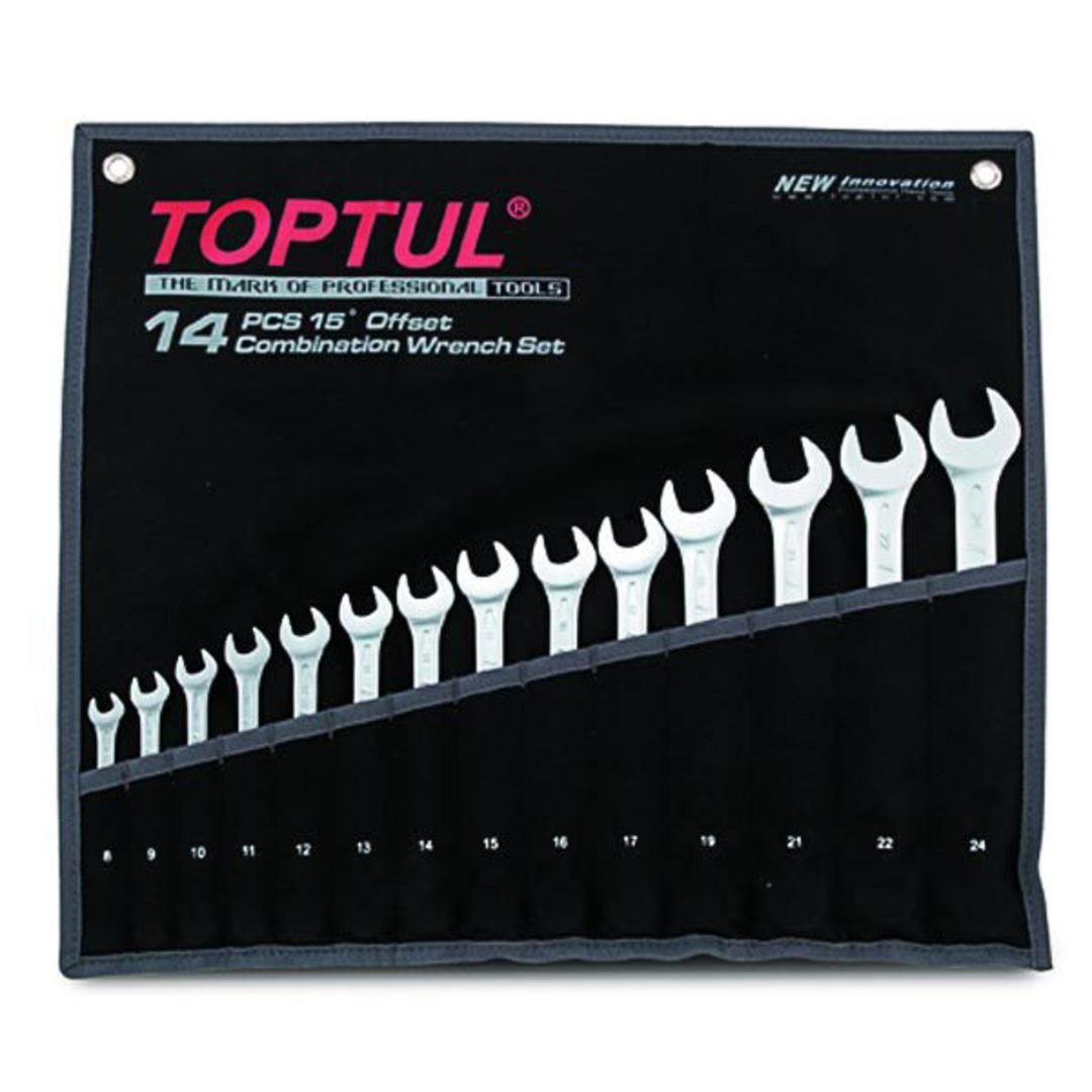 TopTul R&OE Wrench Set 14pc Metric image 0