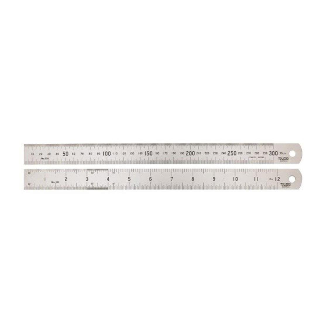 Toledo Ruler 300mm Met/Imp image 0