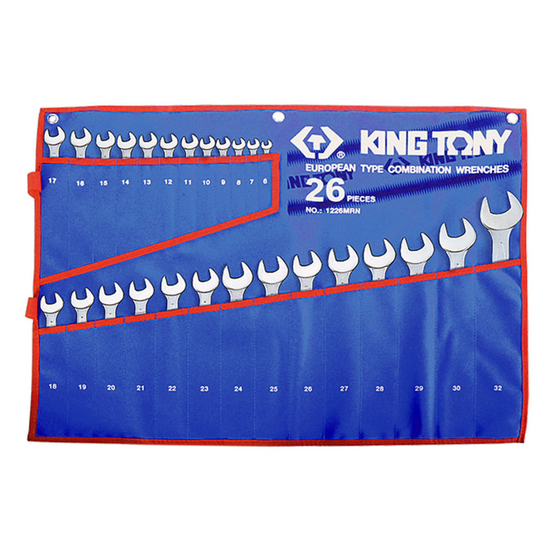 King Tony 26pc R&OE Wrench Set 6-32mm image 0