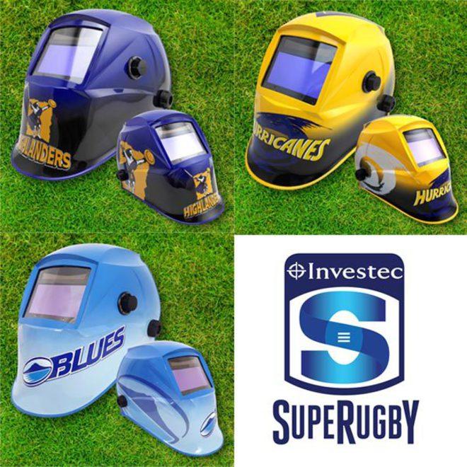 Investec Super Rugby Auto Darkening Welding Helmets image 1