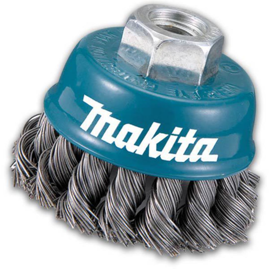 Makita 75mm Twist Knot Wire Cup Brush image 0