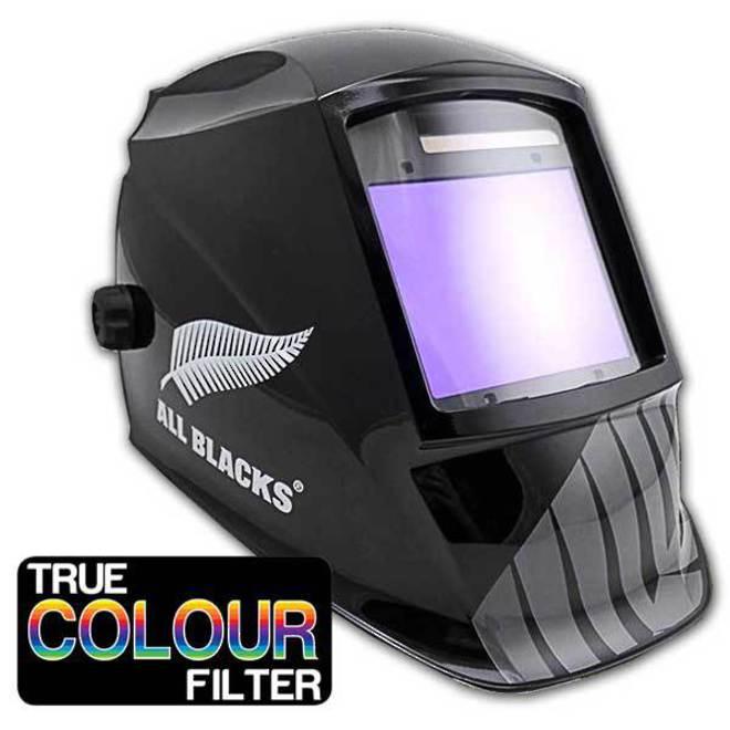 All Blacks Titanium Welding Helmet with Wide True Colour Lens image 0