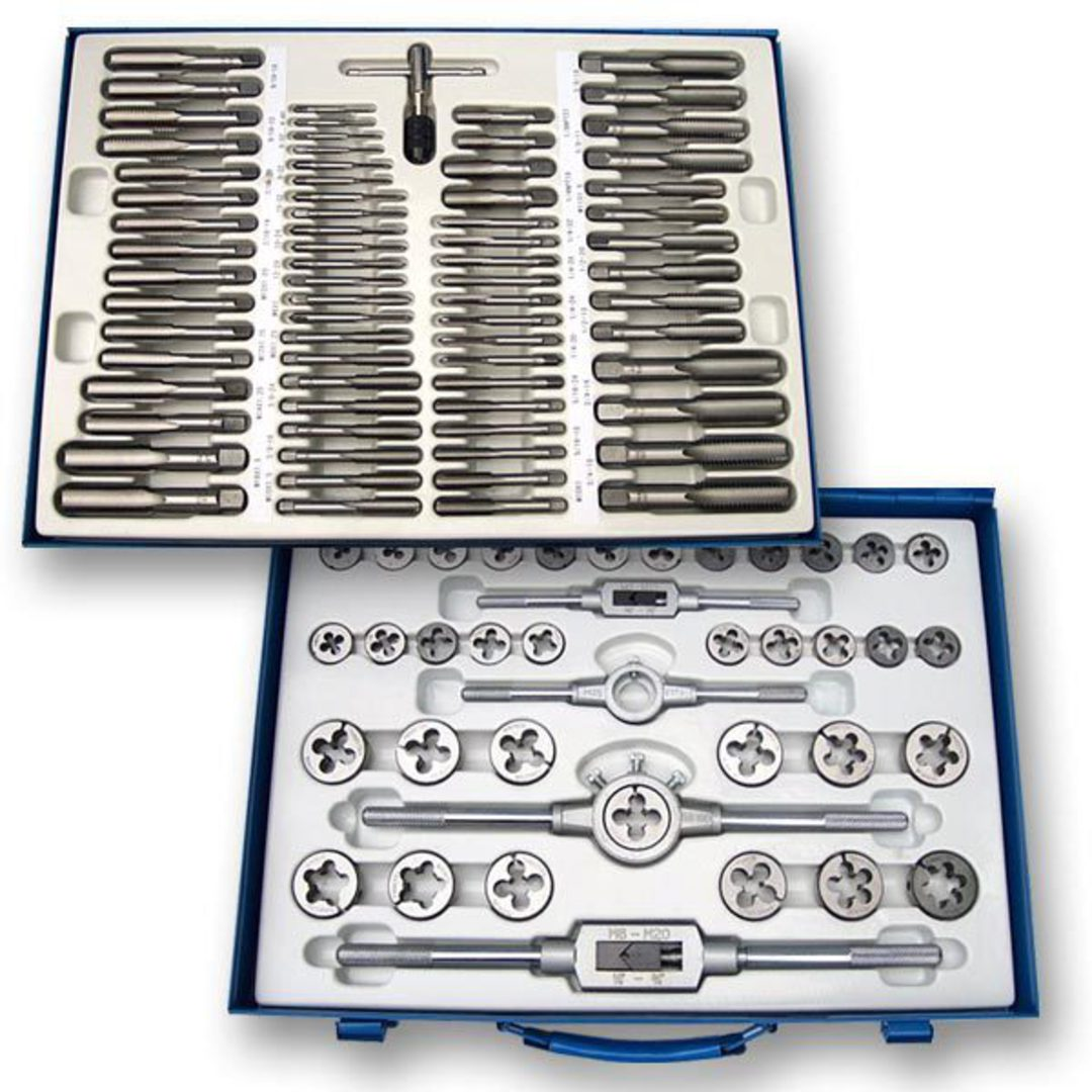 MachineWorks Tap & Die Set 110pc Metric image 0