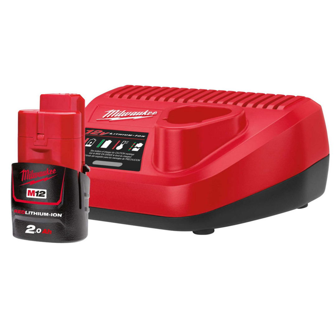 Milwaukee 12v Charger & 2Ah Battery Starter Kit image 0