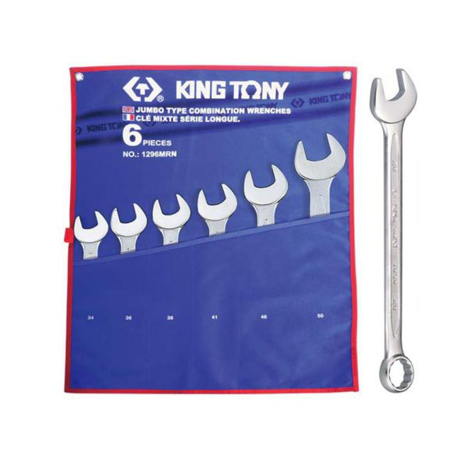 King Tony 6pc R&OE Wrench Set 34-50mm image 0