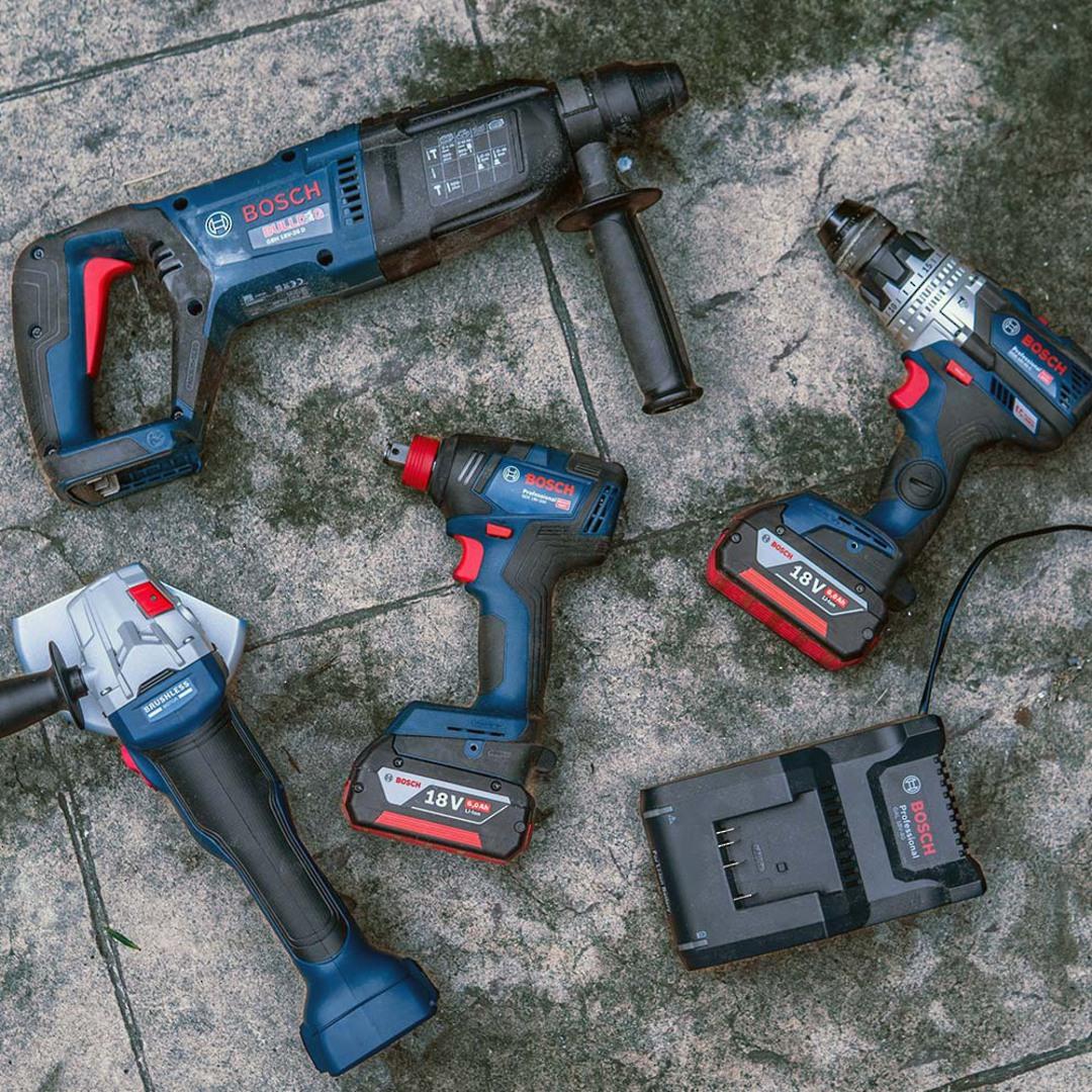 Bosch 4pc Brushless Heavy Duty 6AH Combo Kit image 1