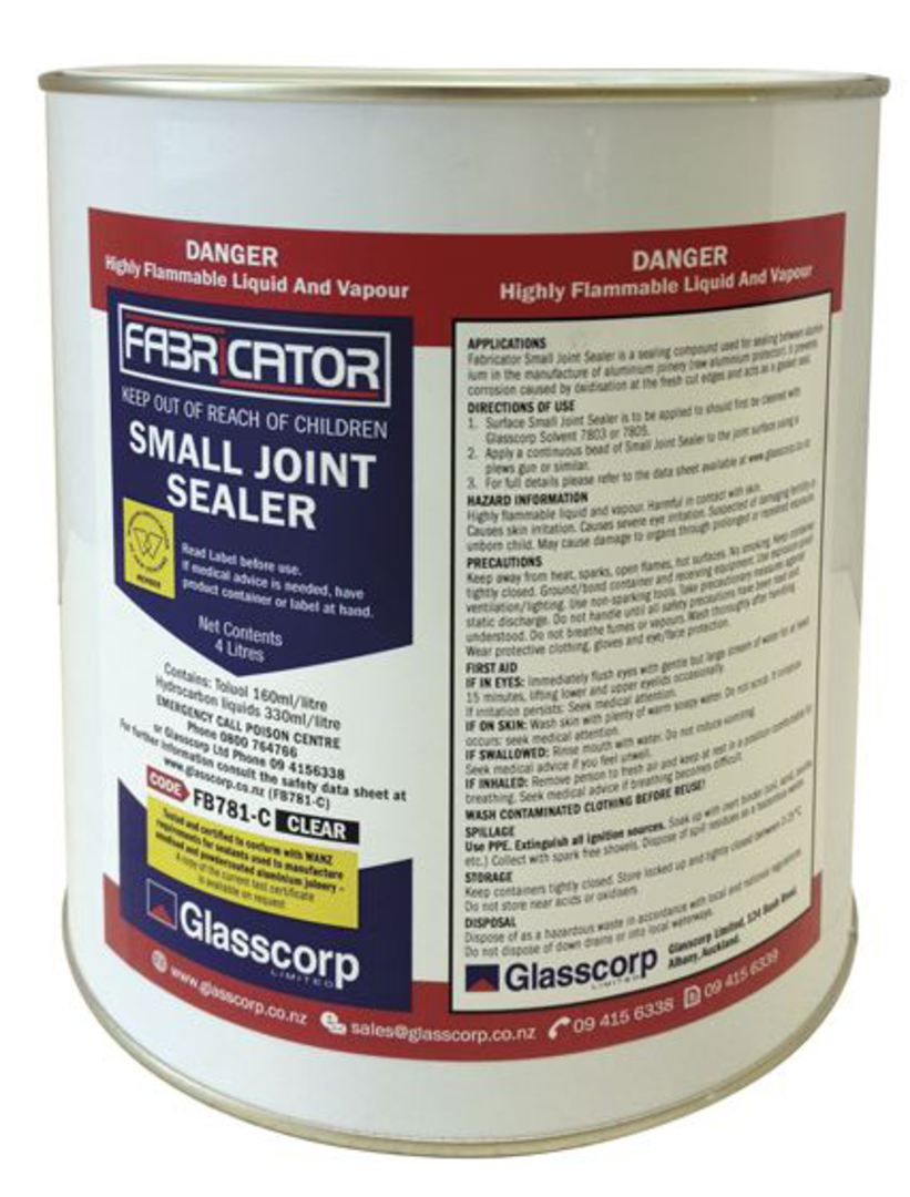 SMALL JOINT SEALER - CLEAR 4 LITRE image 0