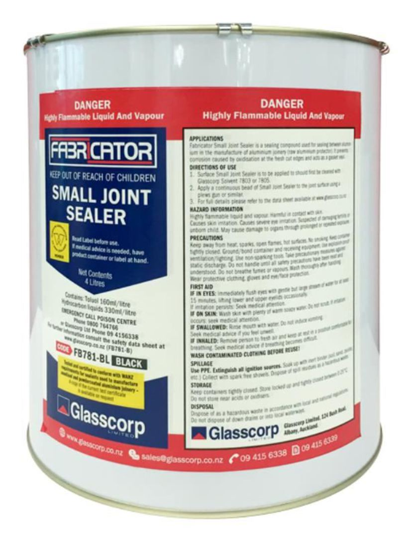SMALL JOINT SEALER - BLACK 4L image 0