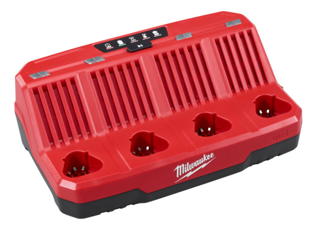MILWAUKEE M12 FOUR BAY CHARGER image 0