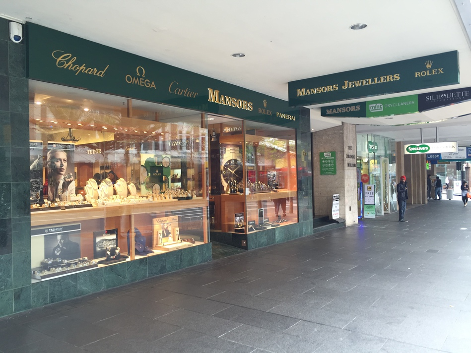 Retail Shop Front - Mansors Jewellers
