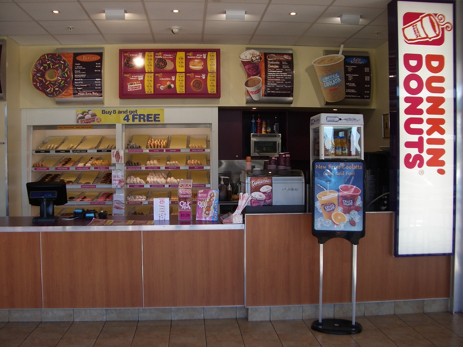 Retail and Menu Signs - Dunkin Donuts
