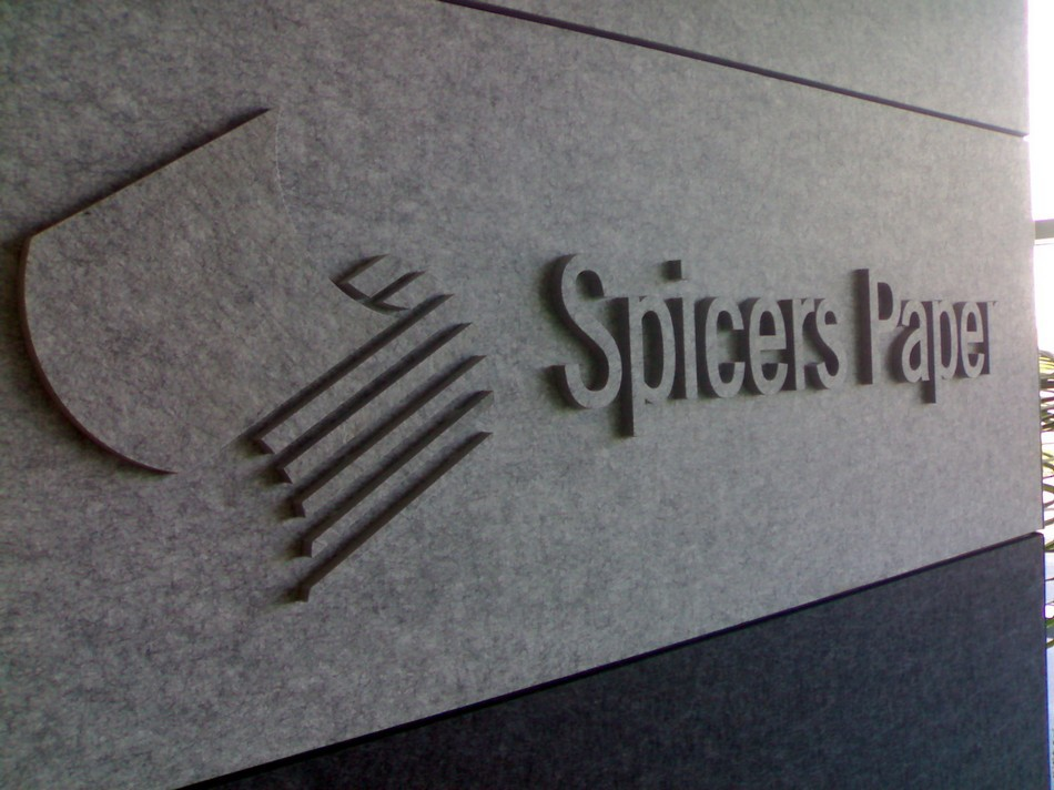 3 Dimensional Logo & Lettering - Spicers Paper
