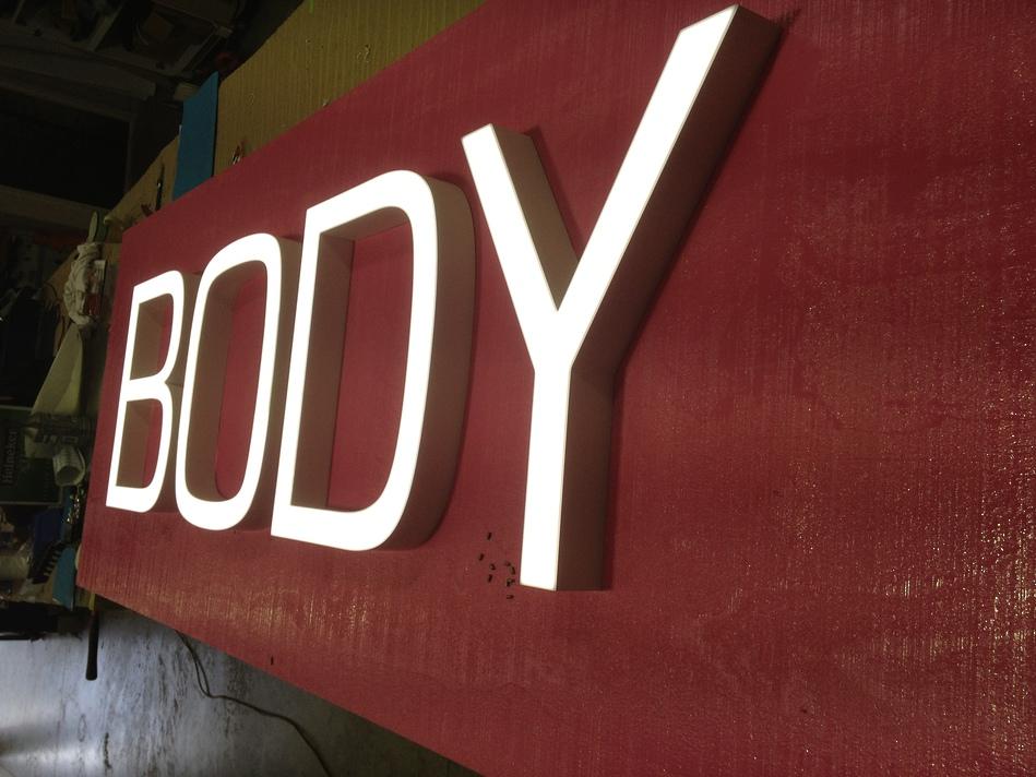 Illuminated \'Body\' Sign