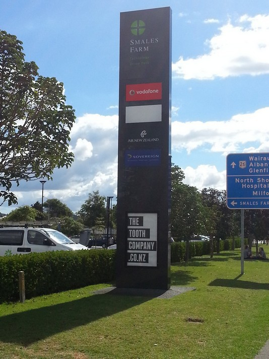 Business Park Pole Signage - Smales Farm Auckland