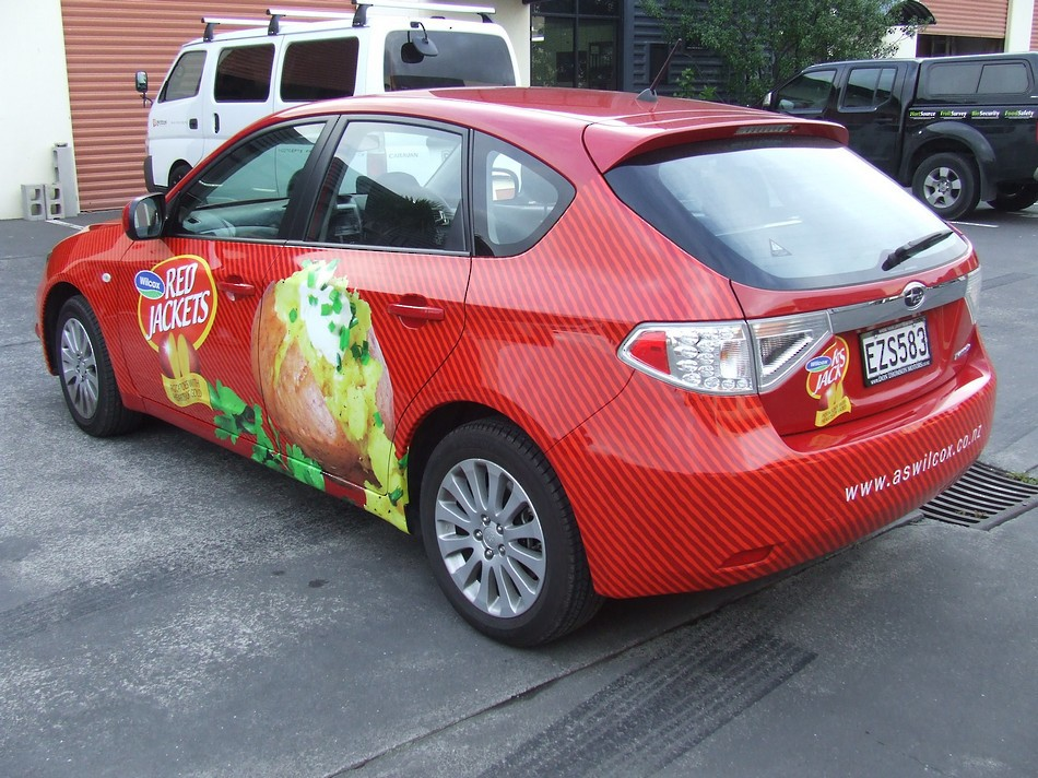Branded Vehicle Wrap - Red Jackets #2