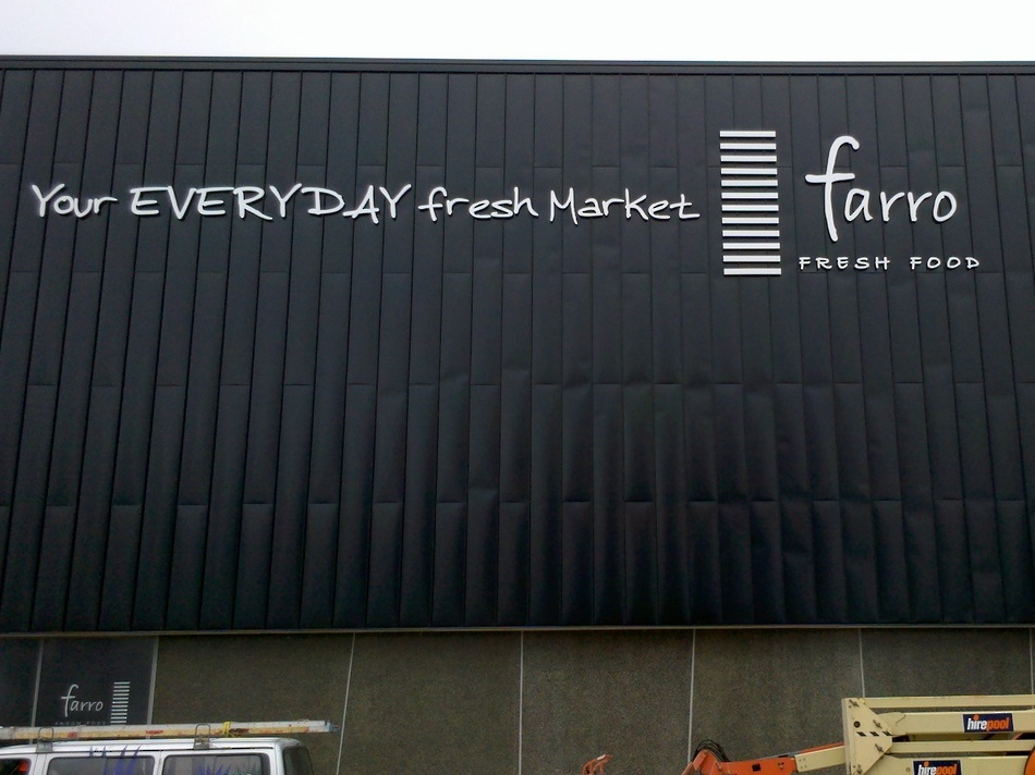 3D Outdoor Signage - Farro Auckland