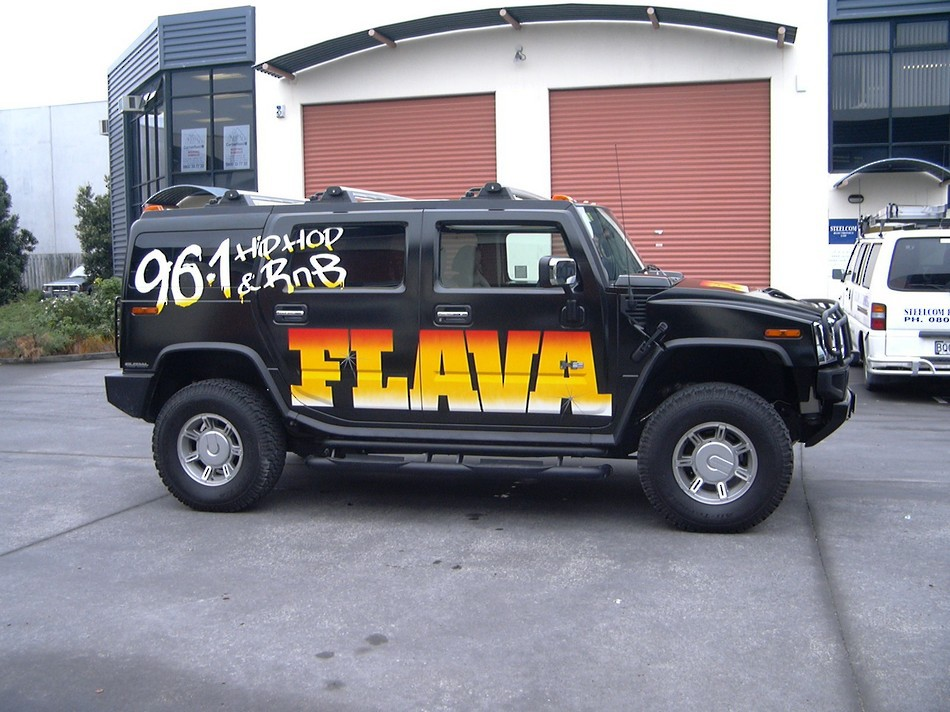 Fully Wrapped and Braned Hummer - Flava 96.1