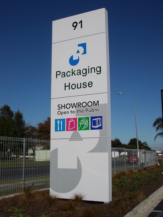 Roadside Pylon Sign - Packaging House