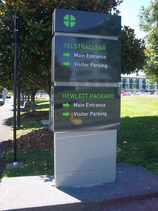 Smales Farm Monolith Sign - Auckland